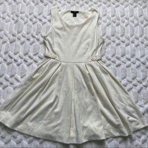 H&M Cream Dress with Gold Buttons - Small